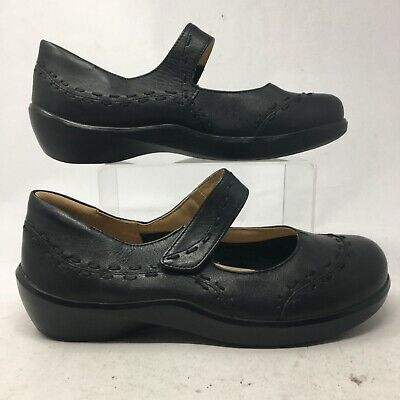 AU77.35 • Buy Ziera Womens 40XW Gummibear Mary Jane Comfort Shoes Black Leather Hook & Loop