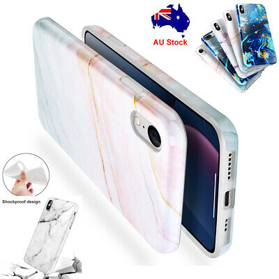 AU12.92 • Buy Marble Case For IPhone 7 8 Plus XR XS Max X Slim TPU Shockproof Armor Soft Cover