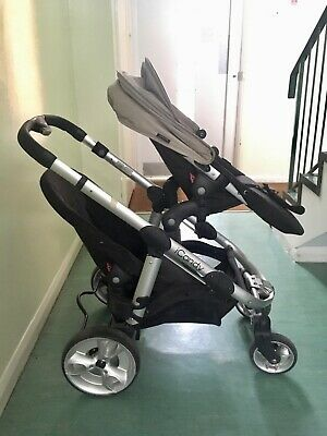 ICandy Apple 2 Pear Black Double Seat Stroller • 200£
