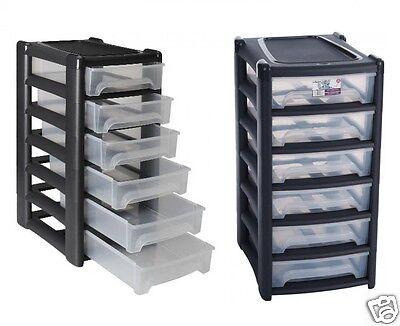 £128.95 • Buy Shallow 6 Drawers A4 Drawer Paper Storage Unit Office Bedroom Cabinet Plastic