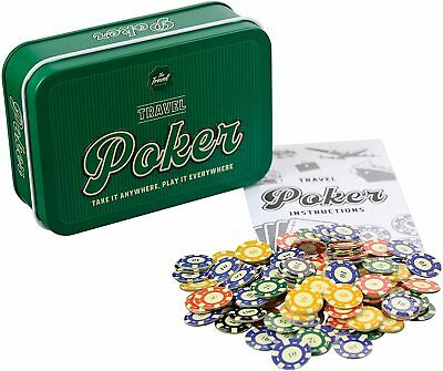 £8.95 • Buy Travel Poker Set Playing Cards Poker Chips Texas Hold Em Tin Casino Game Funtime