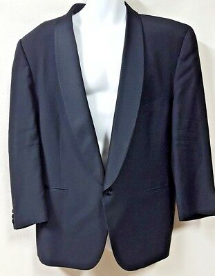 $ CDN54.12 • Buy Nicole Miller Black Tuxedo Jacket 1 Button Wine Theme Lining Size 40