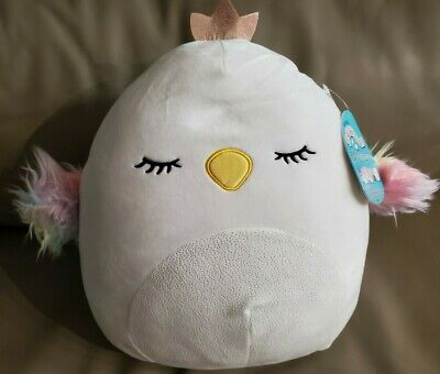 "$ CDN32.99 • Buy Squishmallows Serena Swan Crown 12"" Plush Doll Toy Pillow"