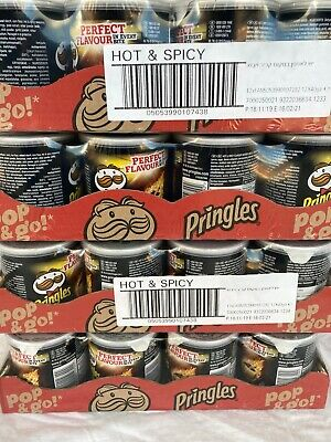 PRINGLES Hot And Spicy 12x40g Best Before Fab 21 • 6.95£