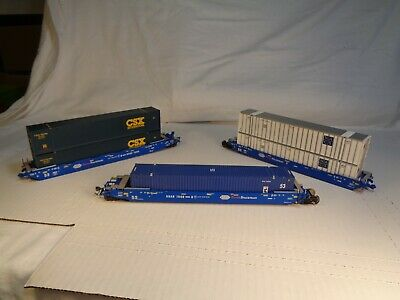 $ CDN63.28 • Buy HO Scale InterMountain (?) Pacer Stack Train 3 Car Set With Containers