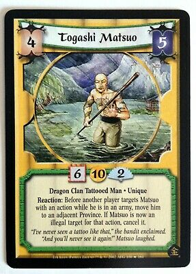 Togashi Matsuo L5R Legend Of The Five Rings CCG Dark Allies • 2.83£
