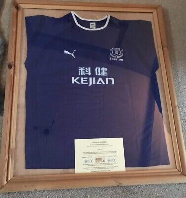 £67.68 • Buy Framed And Signed Wayne Rooney Everton Shirt With Certificate