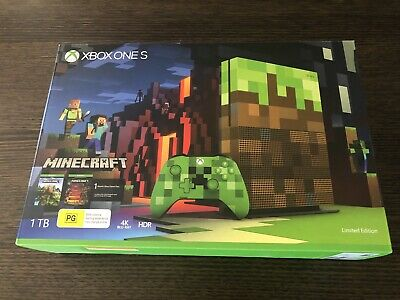 AU700 • Buy Microsoft Xbox One S Minecraft Limited Edition Console 1 TB - RARE BRAND NEW