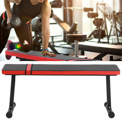 Sit Up Abdominal Bench Press Dumbbell Flat Stool Weight Lifting Exercise Fitness • 53.29£