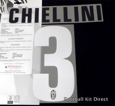 £14.42 • Buy Official Juventus Chiellini 3 Football Name/Number Set Home Serie A 2012/13