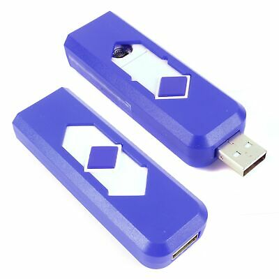 £3.25 • Buy 2x BLUE RECHARGEABLE LIGHTERS Electric Pocket Safe Cig Flameless Windproof USB