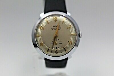 Gents LANCO Calibre 806 Wristwatch - Pie Pan Dial - New Leather Strap. UK Stock • 25£