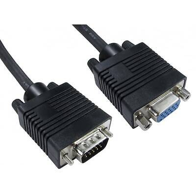 VGA To VGA M-F Extension Cable 10m • 11.27£