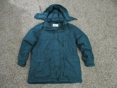 WOMENS GREEN EDDIE BAUER DOWN FILLED PARKA JACKET Sz MEDIUM Puffer / Winter Coat • 7.15£