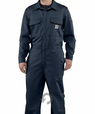 $89.99 • Buy NWT Carhartt Flame Resistant Deluxe Coveralls 4XL Tall Navy Blue Style 102150410