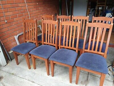 AU100 • Buy Dining Chairs Navy X 8