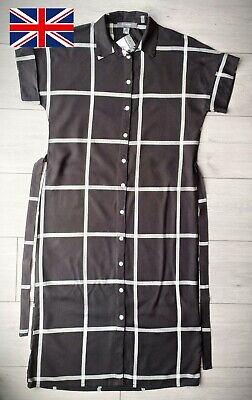 PRIMARK Shirt Dress, Checked, Belted, Button-up, Short Sleeves BRAND NEW • 2.99£