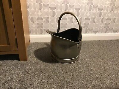 Coal Scuttle,pewter Coloured Metal • 25£