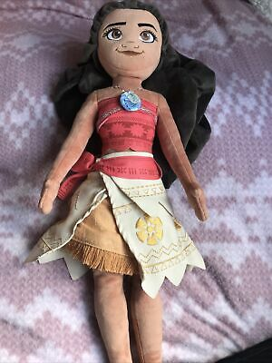 "Large 19"" Disney Store MOANA Soft Plush Doll Toy Princess Vaiana • 9.50£"