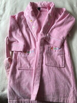 Debenhams John Rocha Pink  Terry Towelling Dressing Gown Age 7-8 • 3£