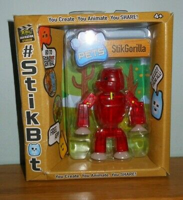 STIKBOT - New  & Boxed PETS  Stop Motion 3  Animation RED GORILLA • 6.99£