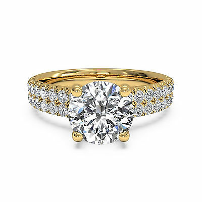 AU8017.39 • Buy 1.40 Ct Natural Solitaire Round Diamond Ring Solid 14K Yellow Gold Band Size 7 8