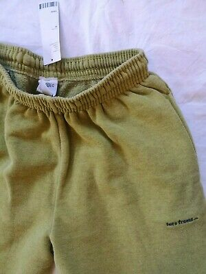 Iets Frans Citron Cotton Joggers Yellow Green Sweatpants Urban Outfitters • 40£