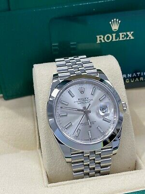 $ CDN11668.47 • Buy BRAND NEW Rolex 126300 Datejust 41 Silver Dial Stainless Steel Box Papers 2021