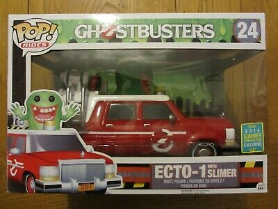 Funko Pop Vinyl Rides ECTO-1 WITH SLIMER 24 GHOSTBUSTERS - 2016 SUMMER EXCLUSIVE • 60£