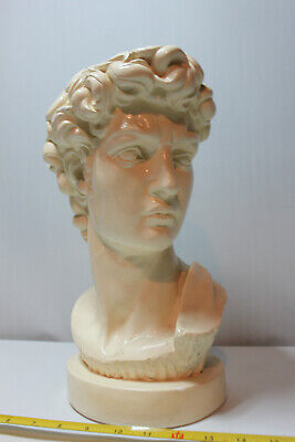 Vintage Large Michelangelo Bust Of David Statue Figurine Roman Greek Mythology • 50£