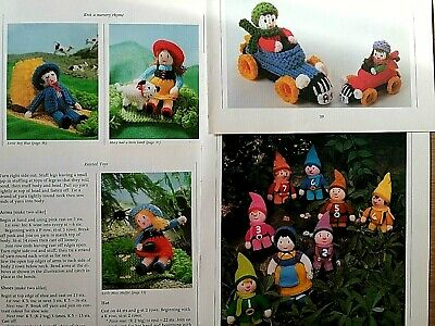 Jean Greenhowe Toys Knitting Patterns, Small Large Sports Cars + Fairy Tale Toys • 1.95£