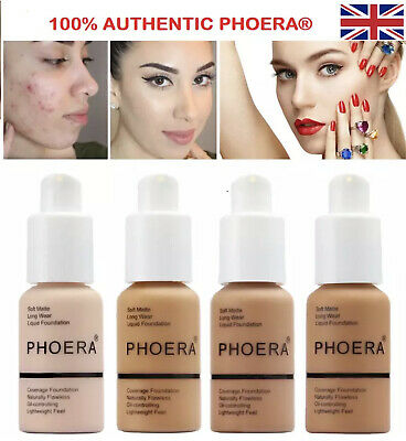 PHOERA Foundation Concealer Full Coverage Makeup Matte Brighton Long Lasting UK • 5.45£