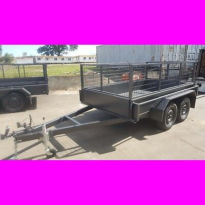 AU2699 • Buy 9x5 Galvanised Tandem Trailer Box Trailer W Cage Heavy Duty Aus Made 2000kgs 8x5