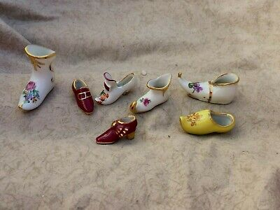 $ CDN12.64 • Buy Lot Of 7 Vintage Miniature Limoges Shoes Boots Slippers Flowers