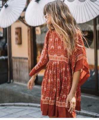 AU145 • Buy Spell And The Gypsy Red Mini Play Dress XS Fit Up To 10 Kimono Sleeve