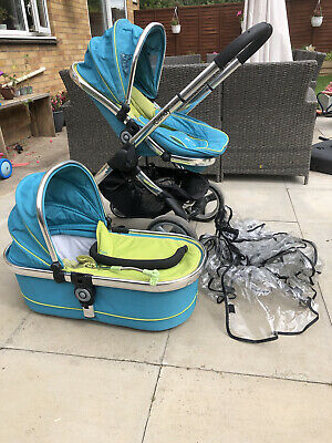 ICandy Peach 3  Pram Pushchair  System - Blue Teal And Green • 65£