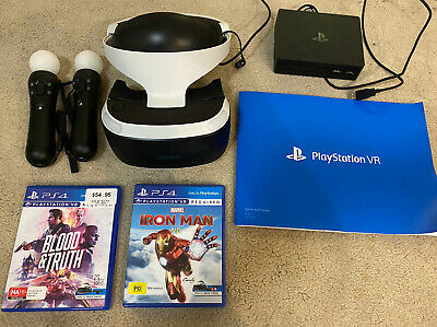 AU150 • Buy PS4 VR Bundle - Headset, 2x Motion Controls, Iron Man, Blood And Truth, Manual