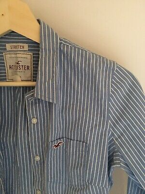 AU15 • Buy Hollister Womens Shirt Size S Blue And White Striped