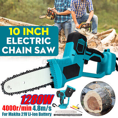 Electric Cordless Chainsaw Chain Saw Garden Cutting Tools For 21V Makita Battery • 67.64£