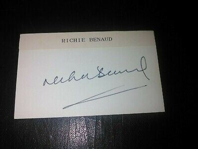 AU10 • Buy Richie Benaud - Former Australian Test Cricketer - Autographed Card
