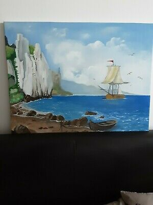 Landscape Oil Painting On A Canvas. • 28£