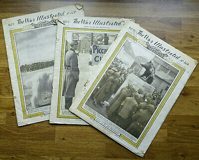 The War Illustrated News - Nos 207, 225 & 227 • 5.50£