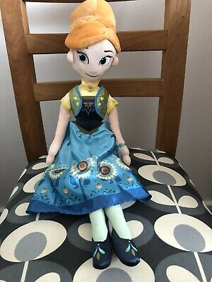 Disney Store Frozen Fever Princess Anna Plush Soft Doll • 10£