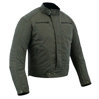 Warrior Gears Waxed Cotton Motorcycle Jacket Waterproof | Breathable | Armoured • 99.99£