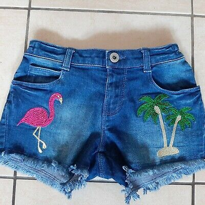 Girls Sparkly Denim Shorts Age 8 Years Blue Zoo Immaculate  • 1£
