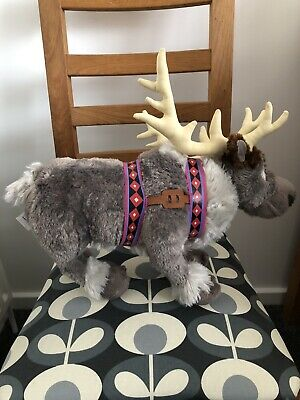 Disney Store Frozen Sven Plush Soft Doll Reindeer • 10£
