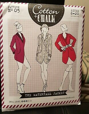 Ladies Dressmaking Pattern - The Waterfall Jacket- Multi Size  • 1£
