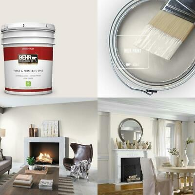 $146.99 • Buy 5 Gal. #N330-1 Milk Paint Flat Low Odor Interior Paint And Primer In One