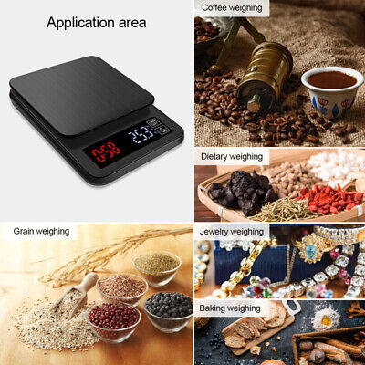 AU25.99 • Buy Electronic Digital 5kg Kitchen Scale Commercial Shop Coffee Food Weight Scales
