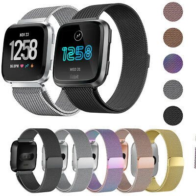 $ CDN6.29 • Buy For Fitbit Versa 2 Milanese Magnetic Loop Stainless Metal Steel Strap Wrist Band